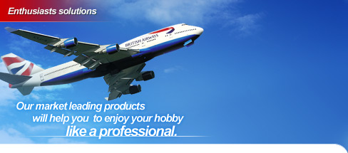 Our market leading products will help you  to enjoy your hobby like a professional.